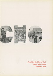Page 7, 1941 Edition, Dubuque High School - Echo Yearbook (Dubuque, IA) online yearbook collection