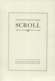 Page 5, 1923 Edition, Boone High School - Scroll Yearbook (Boone, IA) online yearbook collection