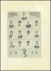 Page 11, 1916 Edition, George Washington High School - Monument Yearbook (Cedar Rapids, IA) online yearbook collection
