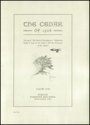 Page 7, 1928 Edition, George Washington High School - Monument Yearbook (Cedar Rapids, IA) online yearbook collection