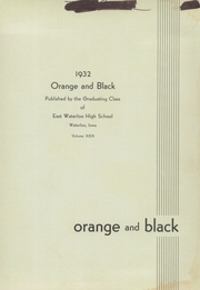 Page 3, 1932 Edition, East High School - Trojan Yearbook (Waterloo, IA) online yearbook collection