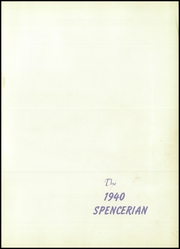 Page 5, 1940 Edition, Spencer High School - Spencerian Yearbook (Spencer, IA) online yearbook collection