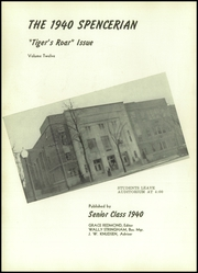 Page 6, 1940 Edition, Spencer High School - Spencerian Yearbook (Spencer, IA) online yearbook collection