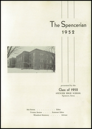 Page 5, 1952 Edition, Spencer High School - Spencerian Yearbook (Spencer, IA) online yearbook collection