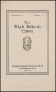 Page 7, 1914 Edition, Fort Madison High School - Madisonian Yearbook (Fort Madison, IA) online yearbook collection
