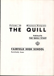 Page 3, 1961 Edition, Fairfield High School - Quill Yearbook (Fairfield, IA) online yearbook collection