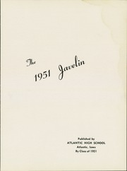 Page 5, 1951 Edition, Atlantic High School - Javelin Yearbook (Atlantic, IA) online yearbook collection