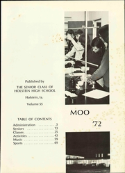 Page 7, 1972 Edition, Galva Holstein Community School - Moo Yearbook (Holstein, IA) online yearbook collection