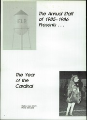Page 6, 1986 Edition, Shelby Tennant Community High School - Cardinals Yearbook (Shelby, IA) online yearbook collection