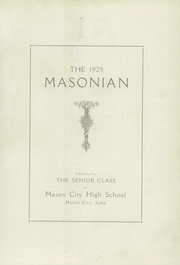 Page 5, 1925 Edition, Mason City High School - Masonian Yearbook (Mason City, IA) online yearbook collection