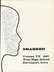 Page 5, 1967 Edition, West High School - Shaheen Yearbook (Davenport, IA) online yearbook collection