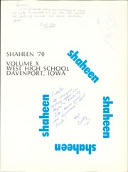 Page 5, 1970 Edition, West High School - Shaheen Yearbook (Davenport, IA) online yearbook collection