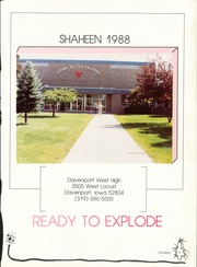 Page 5, 1988 Edition, West High School - Shaheen Yearbook (Davenport, IA) online yearbook collection