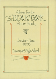 Page 5, 1929 Edition, Central High School - Blackhawk Yearbook (Davenport, IA) online yearbook collection