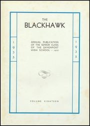 Page 7, 1935 Edition, Central High School - Blackhawk Yearbook (Davenport, IA) online yearbook collection