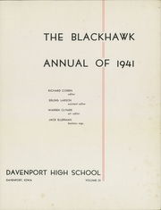 Page 5, 1941 Edition, Central High School - Blackhawk Yearbook (Davenport, IA) online yearbook collection