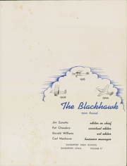 Page 5, 1944 Edition, Central High School - Blackhawk Yearbook (Davenport, IA) online yearbook collection