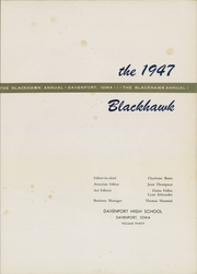 Page 5, 1947 Edition, Central High School - Blackhawk Yearbook (Davenport, IA) online yearbook collection