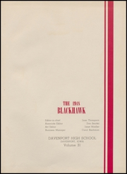 Page 5, 1948 Edition, Central High School - Blackhawk Yearbook (Davenport, IA) online yearbook collection