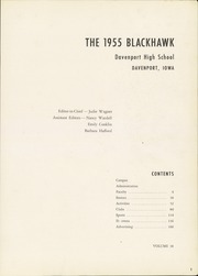 Page 5, 1955 Edition, Central High School - Blackhawk Yearbook (Davenport, IA) online yearbook collection