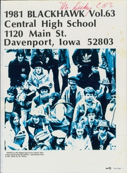 Page 5, 1981 Edition, Central High School - Blackhawk Yearbook (Davenport, IA) online yearbook collection