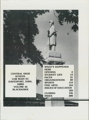 Page 5, 1983 Edition, Central High School - Blackhawk Yearbook (Davenport, IA) online yearbook collection