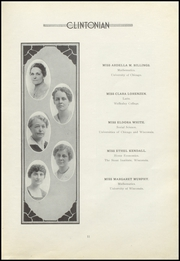 Page 15, 1921 Edition, Clinton High School - Clintonian Yearbook (Clinton, IA) online yearbook collection