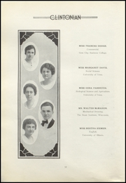 Page 16, 1921 Edition, Clinton High School - Clintonian Yearbook (Clinton, IA) online yearbook collection