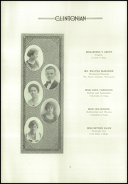 Page 16, 1922 Edition, Clinton High School - Clintonian Yearbook (Clinton, IA) online yearbook collection