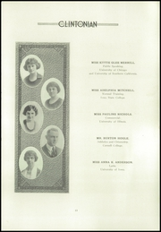 Page 17, 1922 Edition, Clinton High School - Clintonian Yearbook (Clinton, IA) online yearbook collection