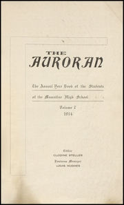Page 3, 1914 Edition, Muscatine High School - Auroran Yearbook (Muscatine, IA) online yearbook collection