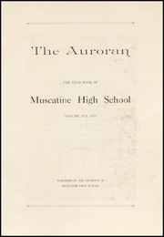 Page 7, 1923 Edition, Muscatine High School - Auroran Yearbook (Muscatine, IA) online yearbook collection