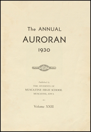 Page 7, 1930 Edition, Muscatine High School - Auroran Yearbook (Muscatine, IA) online yearbook collection