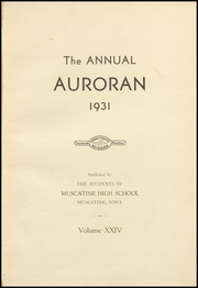 Page 7, 1931 Edition, Muscatine High School - Auroran Yearbook (Muscatine, IA) online yearbook collection