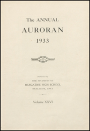 Page 7, 1933 Edition, Muscatine High School - Auroran Yearbook (Muscatine, IA) online yearbook collection