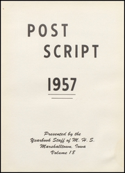 Page 5, 1957 Edition, Marshalltown High School - Postscript Yearbook (Marshalltown, IA) online yearbook collection