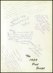 Page 5, 1959 Edition, Marshalltown High School - Postscript Yearbook (Marshalltown, IA) online yearbook collection