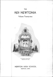 Page 6, 1931 Edition, Newton High School - Newtonia Yearbook (Newton, IA) online yearbook collection