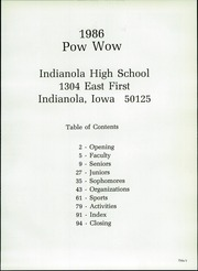 Page 3, 1986 Edition, Indianola High School - Pow Wow Yearbook (Indianola, IA) online yearbook collection