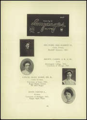 Page 16, 1909 Edition, Central High School - Maroon and White Yearbook (Sioux City, IA) online yearbook collection