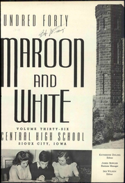 Page 9, 1940 Edition, Central High School - Maroon and White Yearbook (Sioux City, IA) online yearbook collection