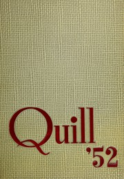 1952 Edition, Marion High School - Quill Yearbook (Marion, IA)