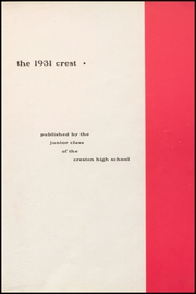 Page 5, 1931 Edition, Creston High School - Crest Yearbook (Creston, IA) online yearbook collection