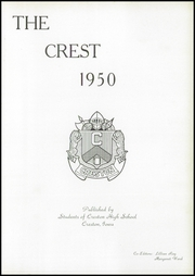 Page 5, 1950 Edition, Creston High School - Crest Yearbook (Creston, IA) online yearbook collection