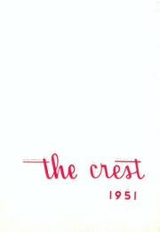 Creston High School - Crest Yearbook (Creston, IA) online yearbook collection, 1951 Edition, Page 1