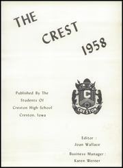 Page 5, 1958 Edition, Creston High School - Crest Yearbook (Creston, IA) online yearbook collection