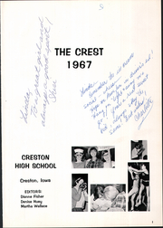 Page 5, 1967 Edition, Creston High School - Crest Yearbook (Creston, IA) online yearbook collection