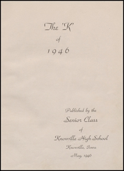 Page 7, 1946 Edition, Knoxville High School - K Yearbook (Knoxville, IA) online yearbook collection
