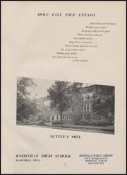 Page 5, 1949 Edition, Knoxville High School - K Yearbook (Knoxville, IA) online yearbook collection
