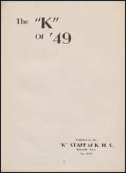 Page 7, 1949 Edition, Knoxville High School - K Yearbook (Knoxville, IA) online yearbook collection